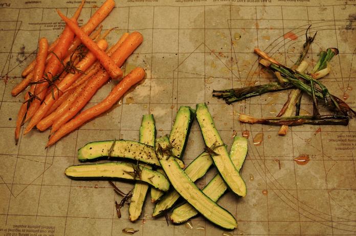 Gegrilde groenten met een eigen identiteit
