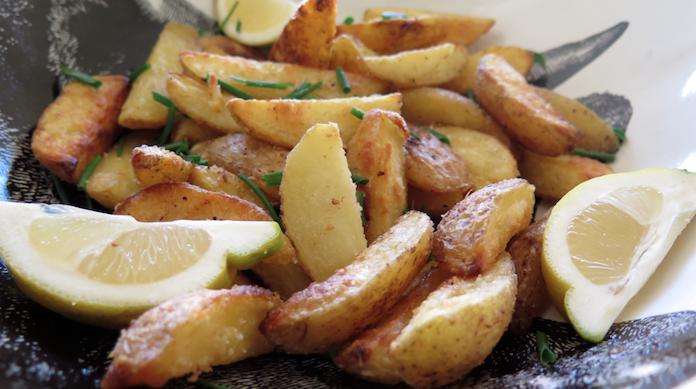 Knapperige aardappelpartjes uit de oven