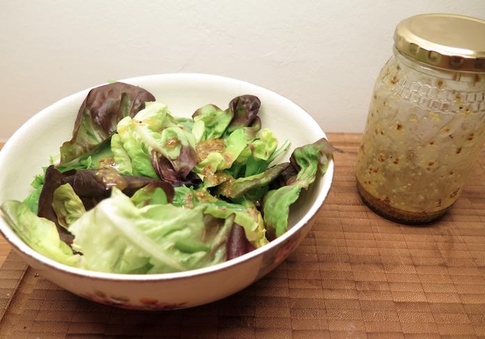 Supersimpele salade met Franse dressing