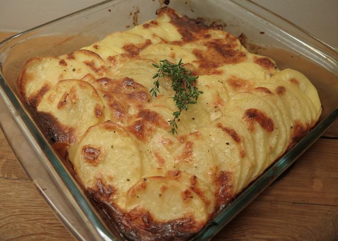 Perfecte aardappelgratin met tijm