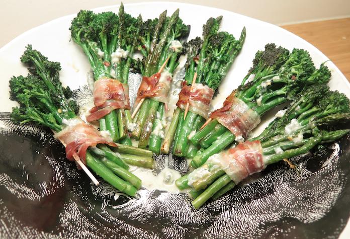 KERST bijgerecht: groenteboeketjes met pancetta en gorgonzolasaus