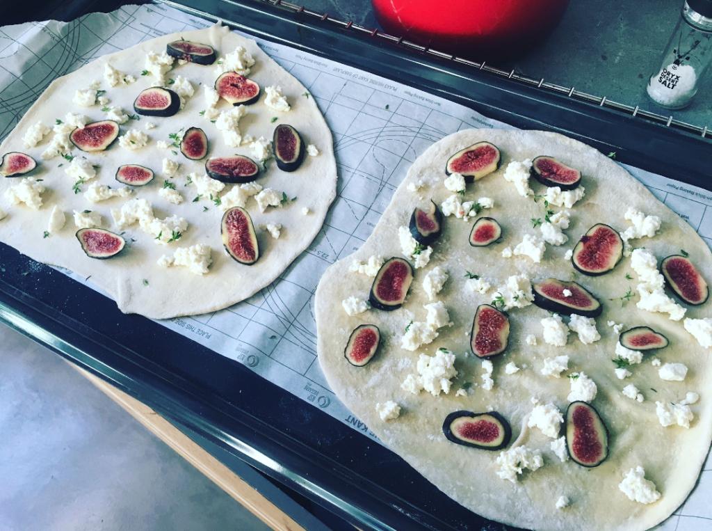 Voordat je pizza's de oven ingaan.