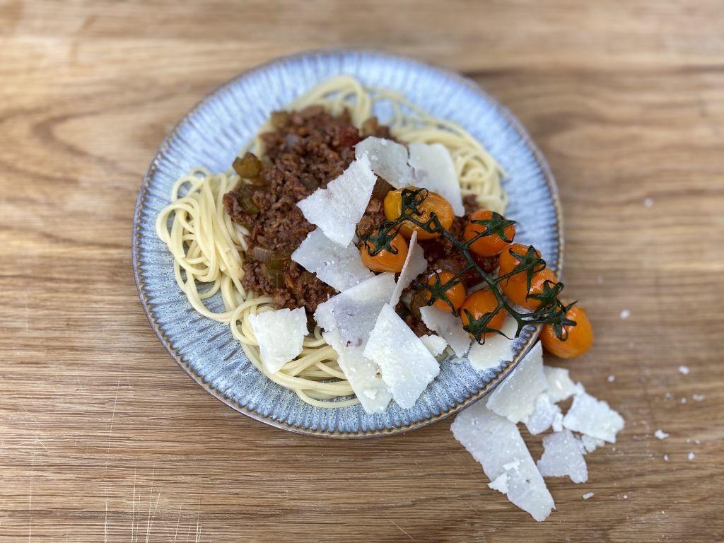 Spaghetti Bolognese uit het boek van Jan Hendrik van der Westhuizen